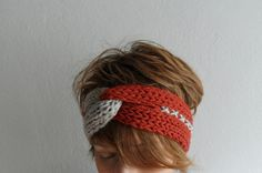 Knitted Headband Turban Headband Chunky Earwarmer by fizzaccessory, $20.00