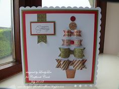 hand crafted Christmas card from Craftwork Cards Blog ... tree made from dimensional die cut paper bows ...