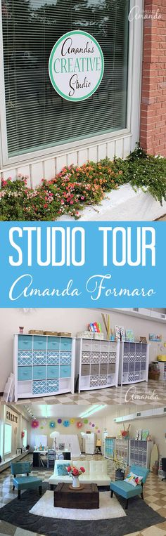 I'm so excited to finally be able to share a detailed and thorough look inside Amanda's Creative Studio! Ready for a tour?