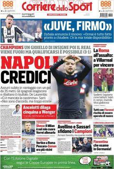 Corriere dello Sport prima pagina oggi 16 febbraio 2017 http://ift.tt/2lSfwxo