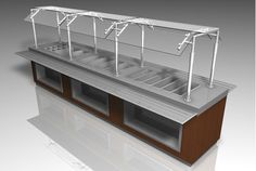Buy a 3D restaurant food buffet table furniture model in FBX 3D format that works with most 3D modeling software.