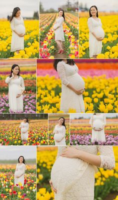 Spring Tulip Field Maternity Session, Portland Maternity Photographer, Outdoor Spring Maternity Session, Oregon Maternity Photographer, Wooden Shoe Tulip Farm