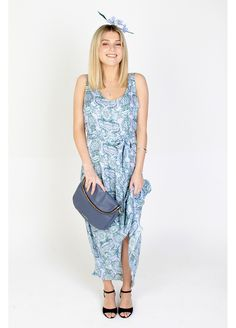 """We have matched our Nicole Maxi with: Saben Handbag """"Baby Frankie-Steel blue"""" Lottie & Lola Headpiece """"Lucy"""" REB Footwear """"Dasha"""" Race Wear, Headpiece, Amber, Casual, How To Make, Dresses, Fashion, Vestidos, Moda"""