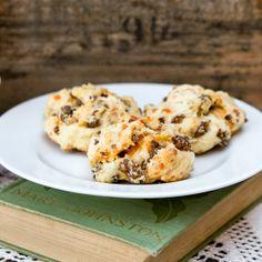 Cheddar sausage buttermilk biscuits - Snixy Kitchen