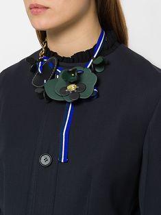 Marni floral web necklace