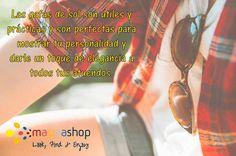 Llévalas siempre contigo, recuerda que además de ser un accesorio imprescindible, son muy importantes para la salud y el bienestar de tus ojos. #GafasDeSol #SunGlasses #Fashion #SummerFashion #Accessories #Moda #Accessorios