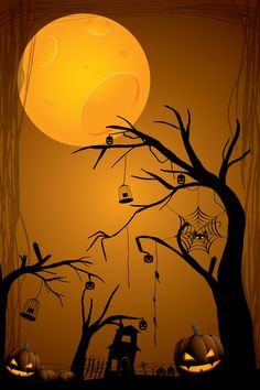 Moon Light Pumpkin Wallpaper Best Picture For kids halloween cute For Your Taste You are looking for Halloween Shadow Box, Halloween Moon, Halloween Artwork, Diy Halloween Costumes For Kids, Halloween Rocks, Halloween Poster, Halloween Pictures, Holidays Halloween, Halloween Themes