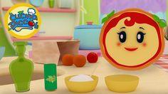 Cartoni animati per bambini: Margherita ed i pomodori con il riso