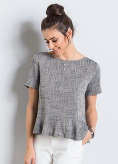 Tremendous Sewing Make Your Own Clothes Ideas. Prodigious Sewing Make Your Own Clothes Ideas. Mom Outfits, Dress Outfits, Casual Outfits, Cute Outfits, Blouse Patterns, Blouse Designs, Floral Top Outfit, Fashion Lighting, Short Tops