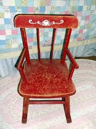 little red rocking chair