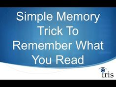 Simple Memory Tricks to Remember What You Read - YouTube