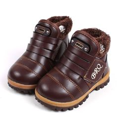 2016 New Children's Boots Warm Botas For Boys Girls Kids Plush Hand Stitching Cotton Winter Boots