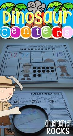 Dinosaur Math and Literacy Centers for Kindergarten is full of fun centers and activities for children!  Identifying ten frames and sorting words by families are only two of the fun centers!
