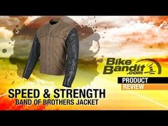 Speed and Strength Band of Brothers Motorcycle Jacket at BikeBandit.com - YouTube