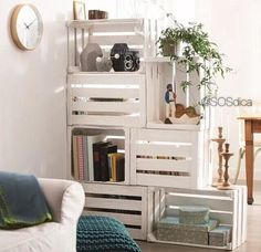 Partition of rooms made with crates of  fair  #fair -  partition of room  #idea