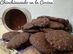 Galletas de avena y cacao puro