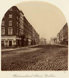Westmoreland Street, Dublin c.1880 after an original of c.1860