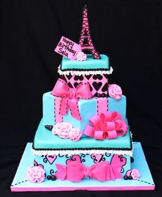 Stack of Presents Cake....all these pretty cakes have a ton of fondant Tiffany... Fondant isn't very tasty but thought u should know :) just in case you didn't...