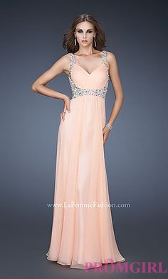 Elegant Open Back Beaded Gown by La Femme 18533 at PromGirl.com