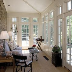 Strawberry Hill Historic restoration - traditional - porch - baltimore - by Penza Bailey Architects Modern French Country, French Country Decorating, Stone Front House, Roof Design, House Design, Old French Doors, Enclosed Porches, Screened Porches, Add A Room