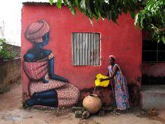 ◦ Untitled ◦  location: Senegal  Tags: Street Art Save My Life
