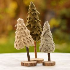 I keep all the family's old woolen sweaters and felt them. I use the felted sweaters to make patchwork throws and cute pillows last year I made some cute cooki… Bird Christmas Ornaments, Cute Christmas Tree, Woodland Christmas, Felt Christmas, Christmas Projects, Holiday Crafts, Christmas Decorations, Holiday Decorating, Christmas Stuff