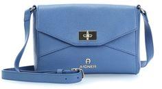 wardow.com -  #bag #blue #colour #Aigner Ophelia Schultertasche Leder blau 24 cm