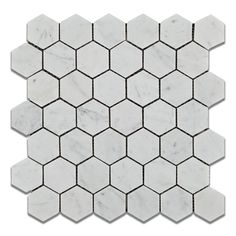 "Buy Carrara White Marble Honed 2"" Hexagon Mosaic Tile Sample Product Attributes…"