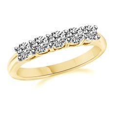 1.50ct Round VVS1 Diamond Ring Anniversary band 10K Yellow Gold 5 x .30 ct #Affinityhomeshopping