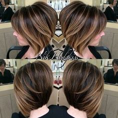 The present fabulous display of balayage/short hair patterns for summer is going to take your breath away! A portion of the balayage on shor. Short Balayage, Balayage Highlights, Hair Color Balayage, Blonde Balayage, Lob Ombre, Haircolor, Blonde Foils, Balayage Straight, Brunette Highlights