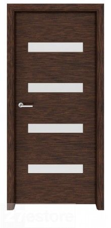 With its cleverly arranged windows and dark wood, this interior glass door makes quite the statement and meshes perfectly with a modern house or apartment with high ceilings, large windows and lots of angles. The wood used in this door model is wenge, a Walnut Doors, Oak Doors, Panel Doors, Wooden Doors, Front Doors, Entry Doors, Aspen, Solid Oak Internal Doors, Double Doors