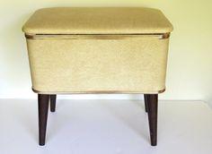 Vintage Sewing Basket -- Atomic Era Home Decor -- 1950s Sewing Basket. $45.00, via Etsy.