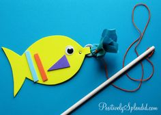 Magnetic Fishing Game Kids Craft | Positively Splendid {Crafts, Sewing, Recipes and Home Decor}