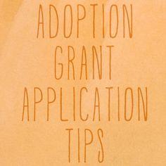 adoption grant application tips | adoption fundraising