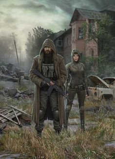 This painting shows the location of the game's Creek Stalker Call of P. Theme of the GSC for STALKER CoP - Creek Post Apocalypse, Apocalypse World, Apocalypse Survival, Cyberpunk, Character Inspiration, Character Art, Arte Zombie, Cthulhu, Wasteland Warrior