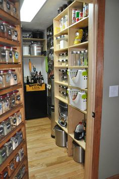 My dream pantry room -- supplies for cheesemaking, beer making, wine making, and all kinds of awesomeness :).