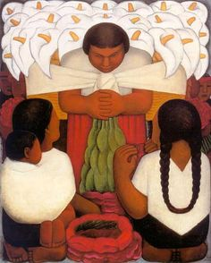 Diego Rivera...one of my fav. artists. I have this picture framed hanging in my bedroom.