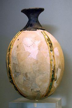 Ostrich Egg Vase  MYCENAE