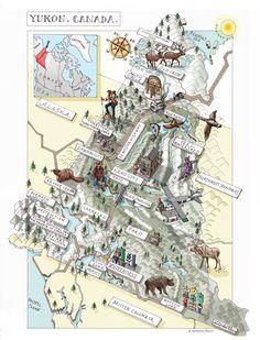 Yukon territory map  DailyTelegraph