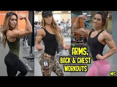 CASSANDRA MARTIN - Fitness Model: Arms, Back and Chest Workouts for Wome...