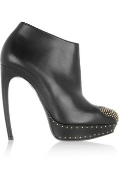 Boots will always be my favorite kind of shoe, and the arch on this ankle boot is drool worthy! Alexander McQueen|Studded leather ankle boots|NET-A-PORTER.COM