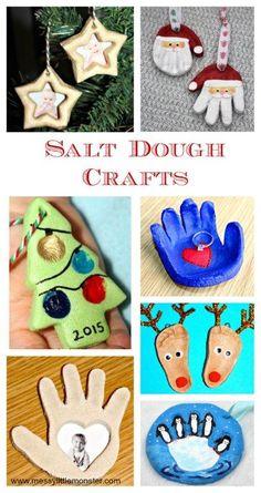 Salt Dough Crafts are surprisingly cheap & versatile. From Christmas Salt Dough Crafts to all seasons Ornament Crafts, Diy Christmas Ornaments, Christmas Art, Holiday Crafts, Xmas, Toddler Crafts, Crafts For Kids, Arts And Crafts, Diy Crafts
