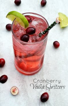 Cranberry Vodka Spritzers: This festive holiday cocktail is delicious and super simple to make. Get the super secret ingredient than makes ALL the difference!