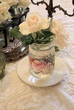 Decoupage Jar Vase