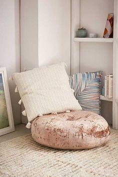 Amya Velvet Pouf Cushion