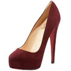 allofuandme:  CHRISTIAN LOUBOUTIN MISS CLICHY 140MM ESCARPINS WINE