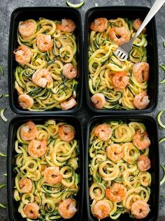 These skinny bang bang zucchini noodles are an easy way to start your week. You can make multiple servings ahead of time enough for a few meals during the week. We recently started to meal prep on weekends and so far Im enjoying it. We only do it for lu Lunch Recipes, Healthy Dinner Recipes, Diet Recipes, Healthy Snacks, Healthy Eating, Healthy Dishes, Heathy Lunch Ideas, Light Lunch Ideas, Meal Prep Recipes