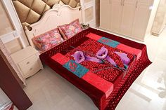 Amazon.com: JML Heavy Thick Korean Style Plush 2 Ply Reversibe Rose Pelt Floral Printed Thorw Bed Blanket, 78 x 94 Inches: Home & Kitchen