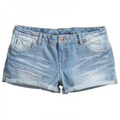 Mini-short en jean délavé H&M - Le dressing Mode de Captendance
