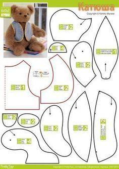patrones osos de peluche 2